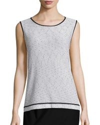 Nipon Boutique | Gray Textured Knit Top | Lyst