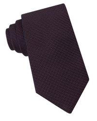 Michael Kors | Purple Micro-dotted Silk Tie for Men | Lyst