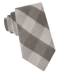 Michael Kors | Brown Perfect Plaid Silk-blend Tie for Men | Lyst
