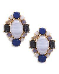 kate spade new york | Blue Symphony Sparkle Statement Stud Earrings | Lyst