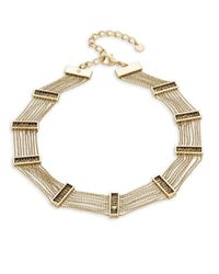 House of Harlow 1960 | Metallic Multi-row Chainlink Choker Necklace | Lyst