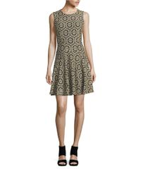 Tommy Hilfiger | Blue Floral Lace Fit-and-flare Dress | Lyst