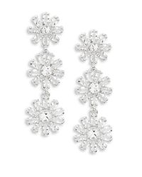 kate spade new york   Metallic Crystal Gardens Drop Earrings   Lyst