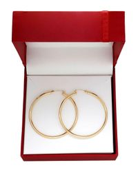 Lord & Taylor - Metallic 14k Yellow Gold Tube Hoop Earrings - Lyst