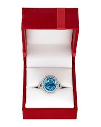 Lord & Taylor | Blue Topaz And Sterling Silver Ring | Lyst