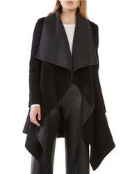 BCBGMAXAZRIA   Black Mandi Long Sleeve Belted Coat   Lyst