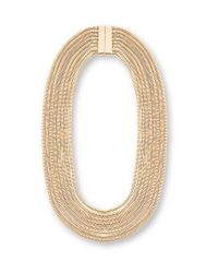 Steve Madden | Metallic Layered Ombre Snake Chain Necklace | Lyst