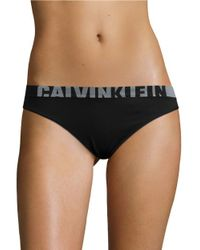 Calvin Klein | Black Stretch Logo Thong | Lyst