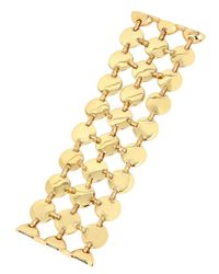Robert Lee Morris - Metallic Goldtone Disc Multi-row Bracelet - Lyst
