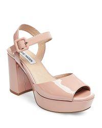 Steve Madden | Pink Trixie Suede Platform Sandals | Lyst