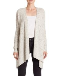 Lord & Taylor | Gray Petite Petite Long Sleeve Cashmere Cardigan | Lyst