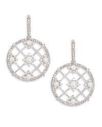 Nadri | Metallic Isolde Pearl Drop Earrings | Lyst