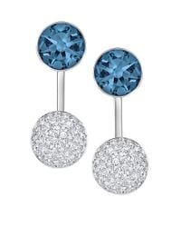 Swarovski | Blue Crystal Jacket Earrings | Lyst