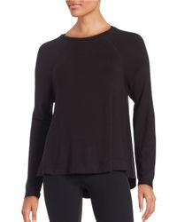 Lord & Taylor | Black Knit Crewneck Sweatshirt | Lyst