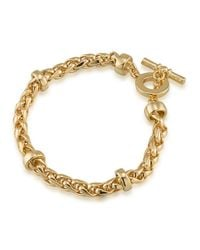 Lauren by Ralph Lauren | Metallic Gold-tone Heavy Chain Toggle Bracelet | Lyst