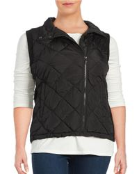 Marc New York | Black Diamond-quilted Zip-front Vest | Lyst