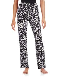 Lord & Taylor | Black Printed Pajama Pants | Lyst