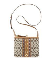 Nine West | Brown Jaya Jacquard Crossbody Bag | Lyst