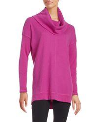 Calvin Klein | Purple Cowlneck Knit Sweater | Lyst