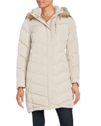 Calvin Klein | Multicolor Petite Faux Fur-trimmed Down Coat | Lyst