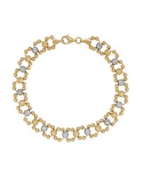 Lord & Taylor | Metallic 14k Yellow Gold Faceted Round Bead Link Bracelet | Lyst