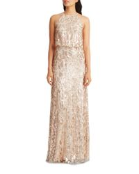 Donna Morgan | Multicolor Tiffany Embellished Halterneck Dress | Lyst
