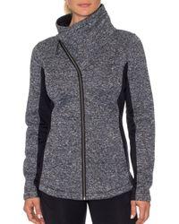 Bench - Pink Asymmetrical Fleece Jacket - Lyst