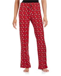 Lord & Taylor | Red Jersey Knit Printed Pajama Pants | Lyst