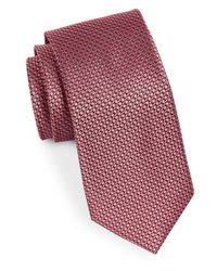 MICHAEL Michael Kors | Red Ring Neat Silk Woven Tie for Men | Lyst