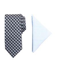 Tallia Orange | Blue Barclay Patterned Tie And Pocket Square Set for Men | Lyst