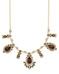 Givenchy | Metallic Topaz And Crystal Frontal Necklace | Lyst