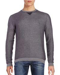 BOSS Green | Gray Cotton-blend Knit Sweater for Men | Lyst
