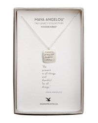 Dogeared | Metallic Be Present Sterling Silver Pendant Necklace | Lyst