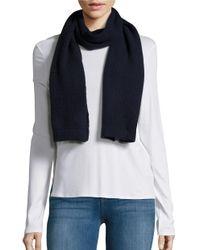 Portolano   Blue Honeycomb Cashmere Knit Scarf   Lyst