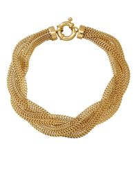 Lord & Taylor | Metallic 14k Yellow Gold Braided Mesh Bracelet | Lyst