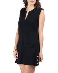 Lauren by Ralph Lauren | Black Button Cover Up Tunic | Lyst