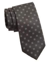 Cole Haan | Black Floral Knit Silk Tie for Men | Lyst