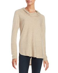 Calvin Klein | Natural Cowlneck Sweater | Lyst