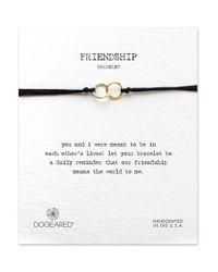 Dogeared | Metallic 14k Goldplated Linked Ring Bracelet | Lyst