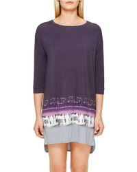 DKNY | Purple Dyed Modal Jersey Sleepshirt | Lyst