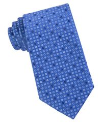 MICHAEL Michael Kors | Blue Patterned Silk Tie for Men | Lyst