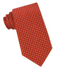 MICHAEL Michael Kors | Orange Patterned Silk Tie for Men | Lyst