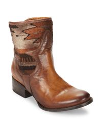 Freebird by Steven | Brown Leather Ankle Boots | Lyst