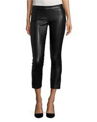 David Lerner | Black Faux Leather Skinny Pants | Lyst