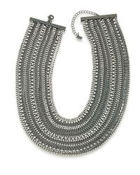 ABS By Allen Schwartz | Black Rockstars Multi-row Crystal Torsade Necklace | Lyst