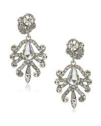 ABS By Allen Schwartz | Metallic Set In Stone Crystal Chandelier Earrings | Lyst