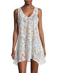 J Valdi | White Mesh-accented Paisley Cover-up Dress | Lyst