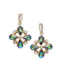 Gerard Yosca | Multicolor Cluster Drop Earrings | Lyst