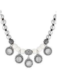 Lucky Brand | Metallic Beaded Collar Necklace | Lyst