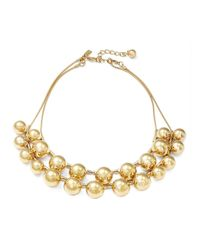 kate spade new york | Metallic Ring It Up Goldtone Ball Layered Necklace | Lyst